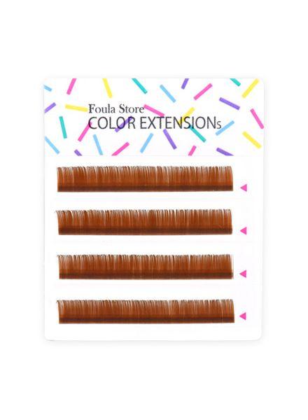 Color Lashes 4 Lines Orange Brown
