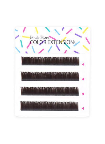 Color Lashes 4 Lines Dark Brown