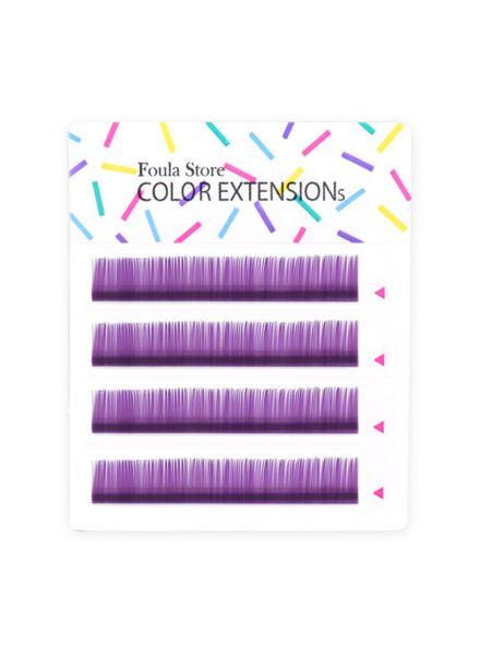 Color Lashes 4 Lines Purple