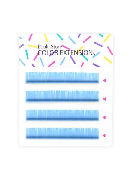Color Lashes 4 Lines Pastel Blue