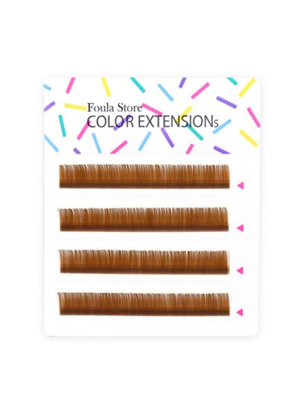 Color Lashes 4 Lines Brown