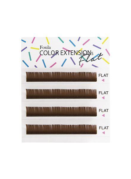 Color Flat Lash 4 Rows Sheet Dark Brown