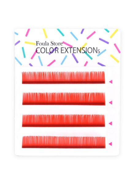 Color Lashes 4 Lines Red